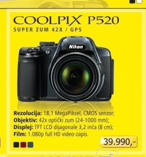 Digitalni fotoaparat Coolpix P520