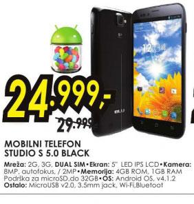 Mobilni telefon STUDIO S 5.0 BLACK
