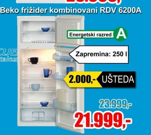 Frizider kombinovani RDV 6200A