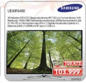 """Televizor TV 40"""" LED Smart 3D UE40F6400"""