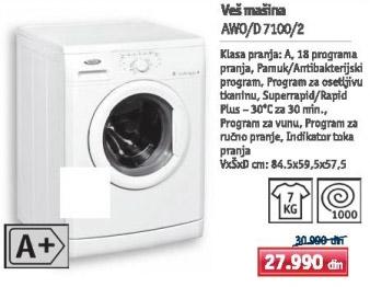Mašina za pranje veša Awo/d 7100/2
