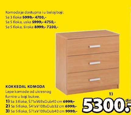 Komoda Kokkedal 3 fioke