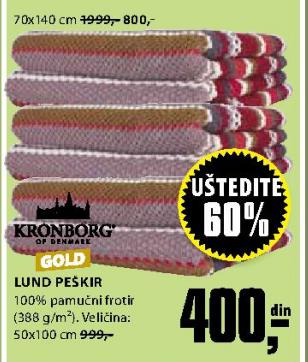Peškir Lund 70x140 cm