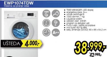 Mašina za pranje veša EWP1074TDW