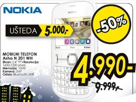 mobilni telefon Asha N 201 WH