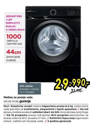 Mašina za pranje veša Ws 60 Sy2b