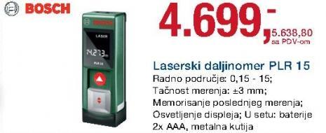 Laserski daljinomer Plr 15