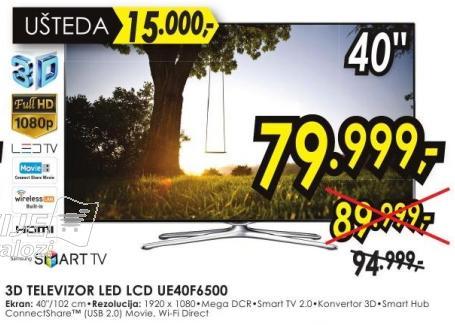 "Televizor LED 40"" Ue40f6500"