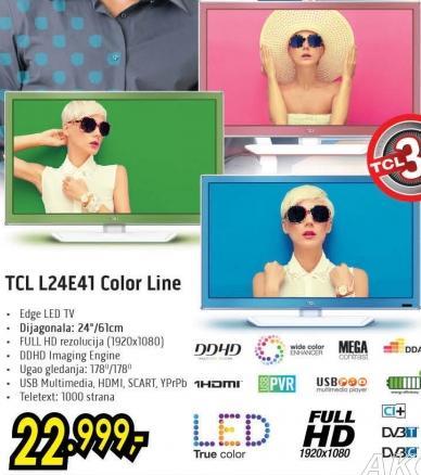 """Televizor LED 24"""" TCL L24e41 Color Line"""