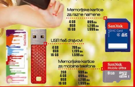 Memorijske Kartice Za Mobilne Telefone 16Gb