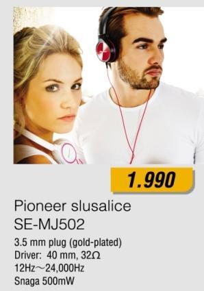 Slušalice Se-Mj502