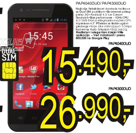 Mobilni telefon MultiPhone PAP4040DUO