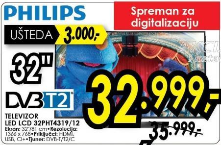 "Televizor LED 32"" 32pht4319/12"