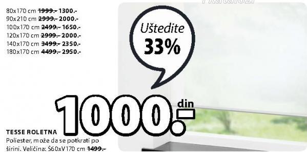 Roletna Tesse 100x170cm