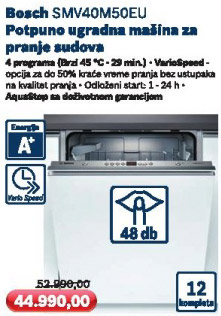 Ugradna mašina za pranje sudova Smv40m50eu