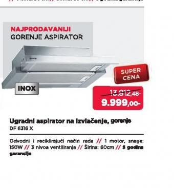 Aspirator DF6316X