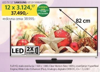 """Televizor LED 32"""" UE32H5000KXXH"""