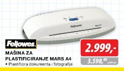 Mačina za plastificiranje Mars A4