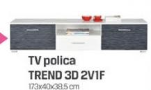 TV polica Trend 3D 2V1F
