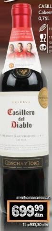 Crno vino Casillero del Diablo