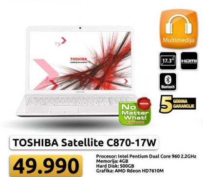 Laptop Satellite C870-17W