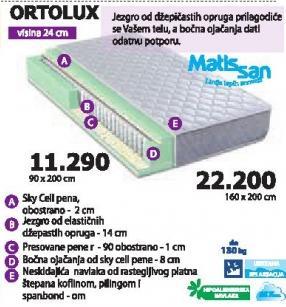 Dušek Ortolux 90x200cm