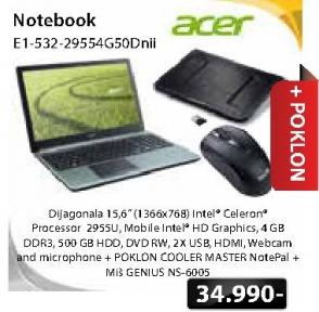 Laptop E1-532-29554G50Dnii