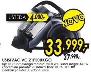 Usisivač VC 21F50UKGC