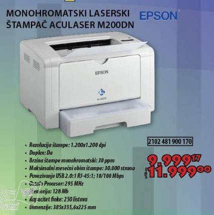 Laserski monohromatski štampač M200DN