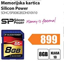 Memorija SD SDHC/SP008GBSDH010V10