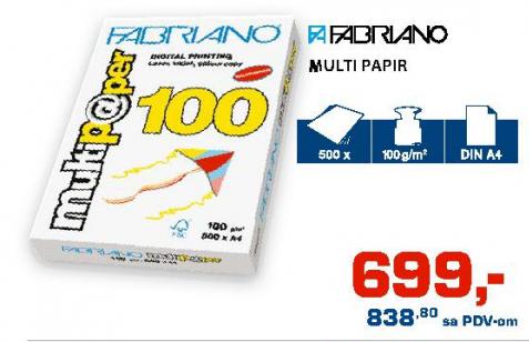 Multi papir A4, FABRIANO