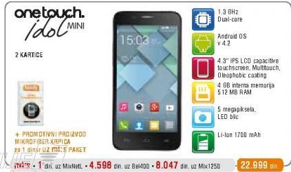 Mobilni telefon One Touch Idol mini