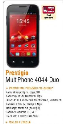 Mobilni telefon MultiPhone 4044 DUO