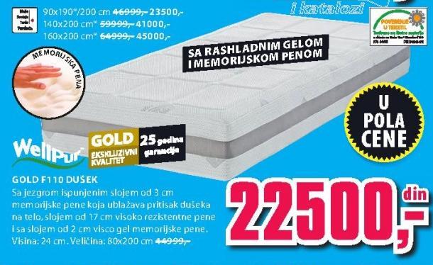 Dušek Gold F110 80x200