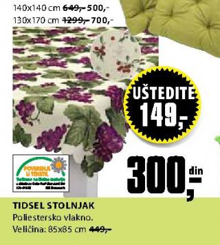 Stolnjak Tidsel 140x140 cm