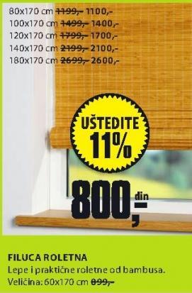 Roletna Filuca 180x170