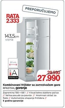 Kombinovani frižider Rf6275w