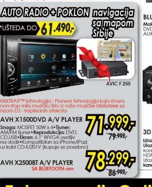 Autoradio AVH-X2500BT