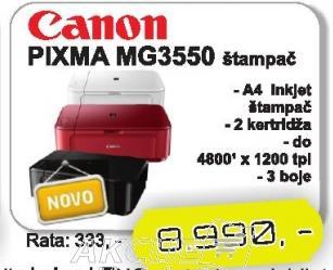 InkJet štampač Pixma MG3550
