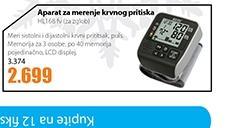Aparat za merenje krvnog pritiska HL168 fv