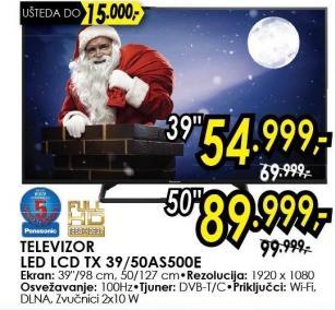 """Televizor LED 50"""" Tx 50as500e"""