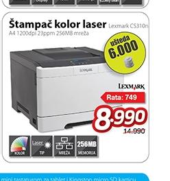 Štampač Laser Color A4 CS310n