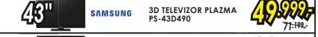 Televizor 3D plazma Ps-43D490