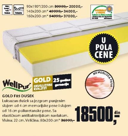 Dušek Gold F85 160x200