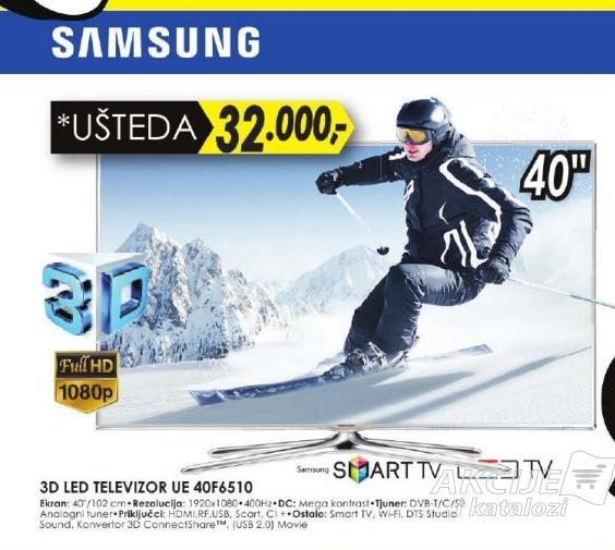 """Televizor LED 40"""" 3D UE40F6510"""