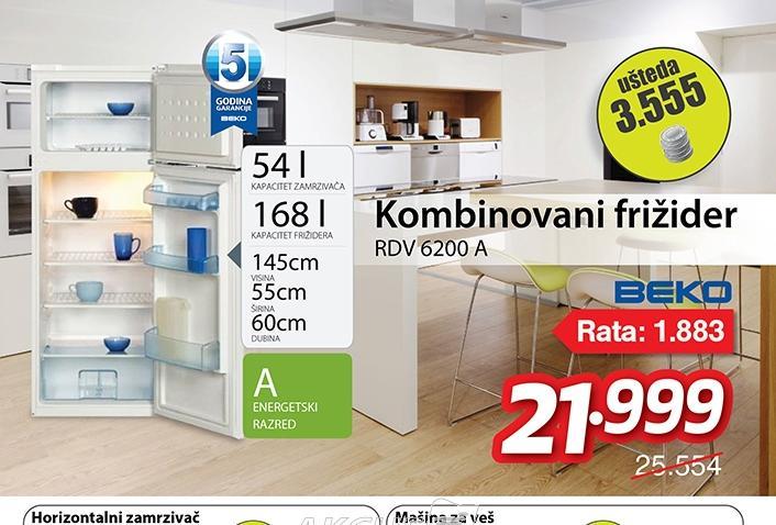Kombinovani frižider RDV 6200 A