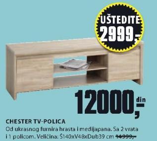 TV polica Chester