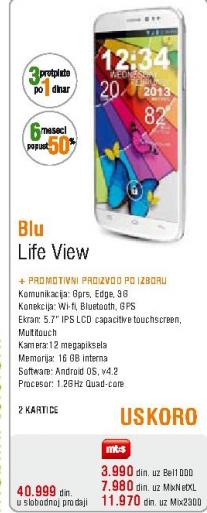 Mobilni telefon Blu, Life View