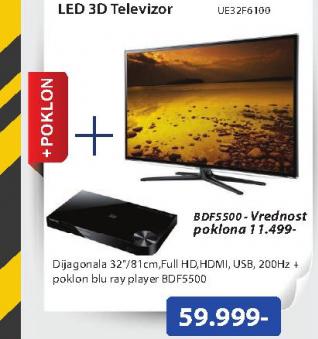 Televizor 3D LED LCD UE-32F6100