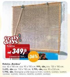 Roletna Bambus 150x180